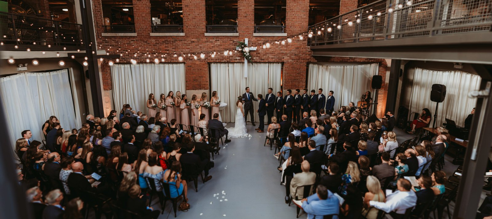 Architectural artifacts wedding photography, panorama