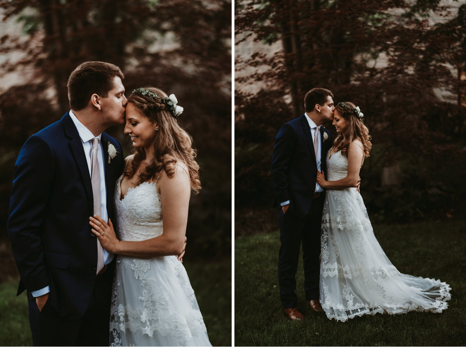 chicago backyard wedding photographer, bride and groom