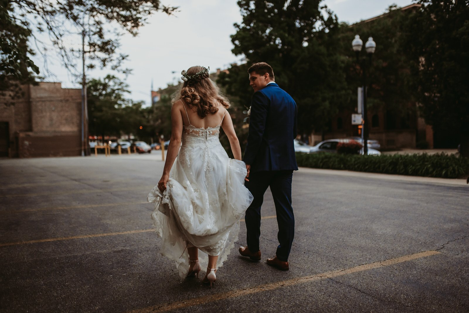 Chicago streets, Architectural Artifacts wedding photography