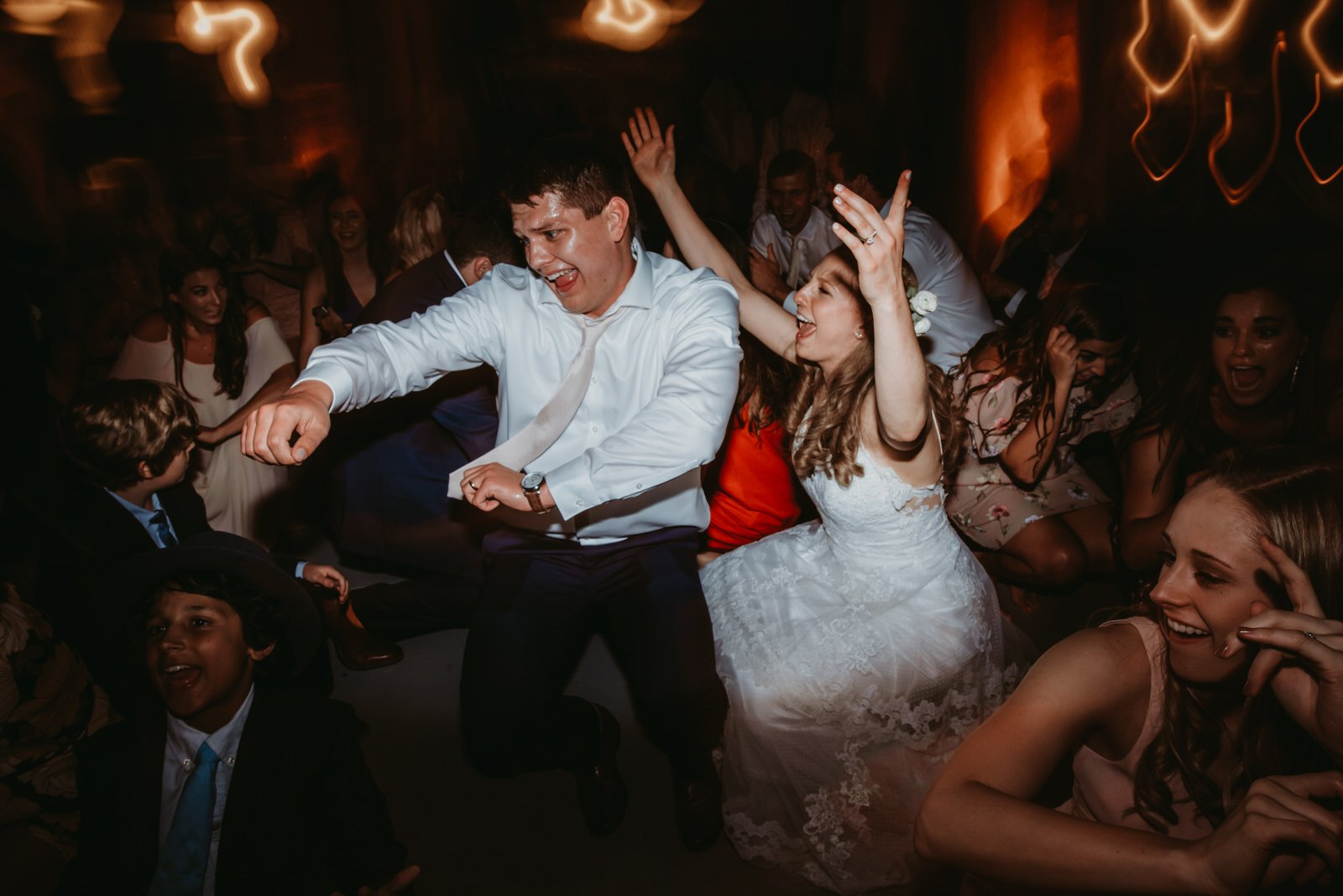 Wedding photography drag shutter