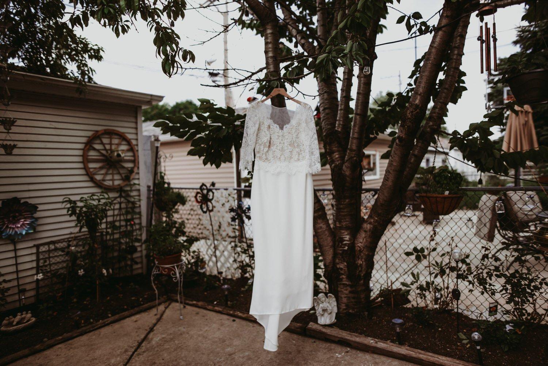 Chicago vow renewal, wedding dress, The Adamkovi