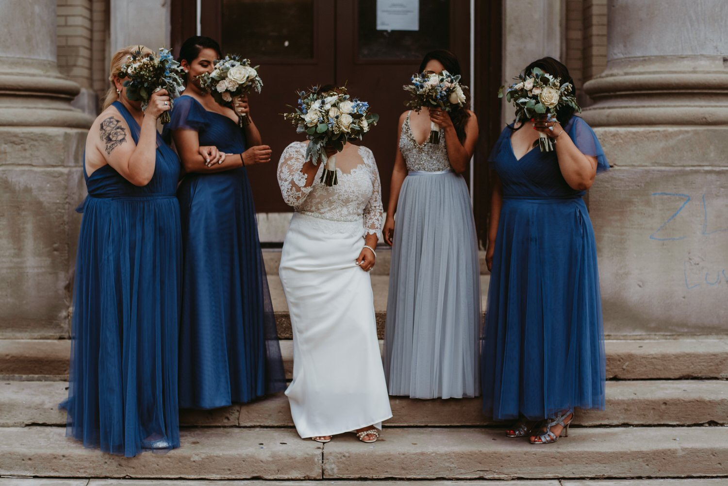 Chicago vow renewal, creative Bridesmaids, The Adamkovi
