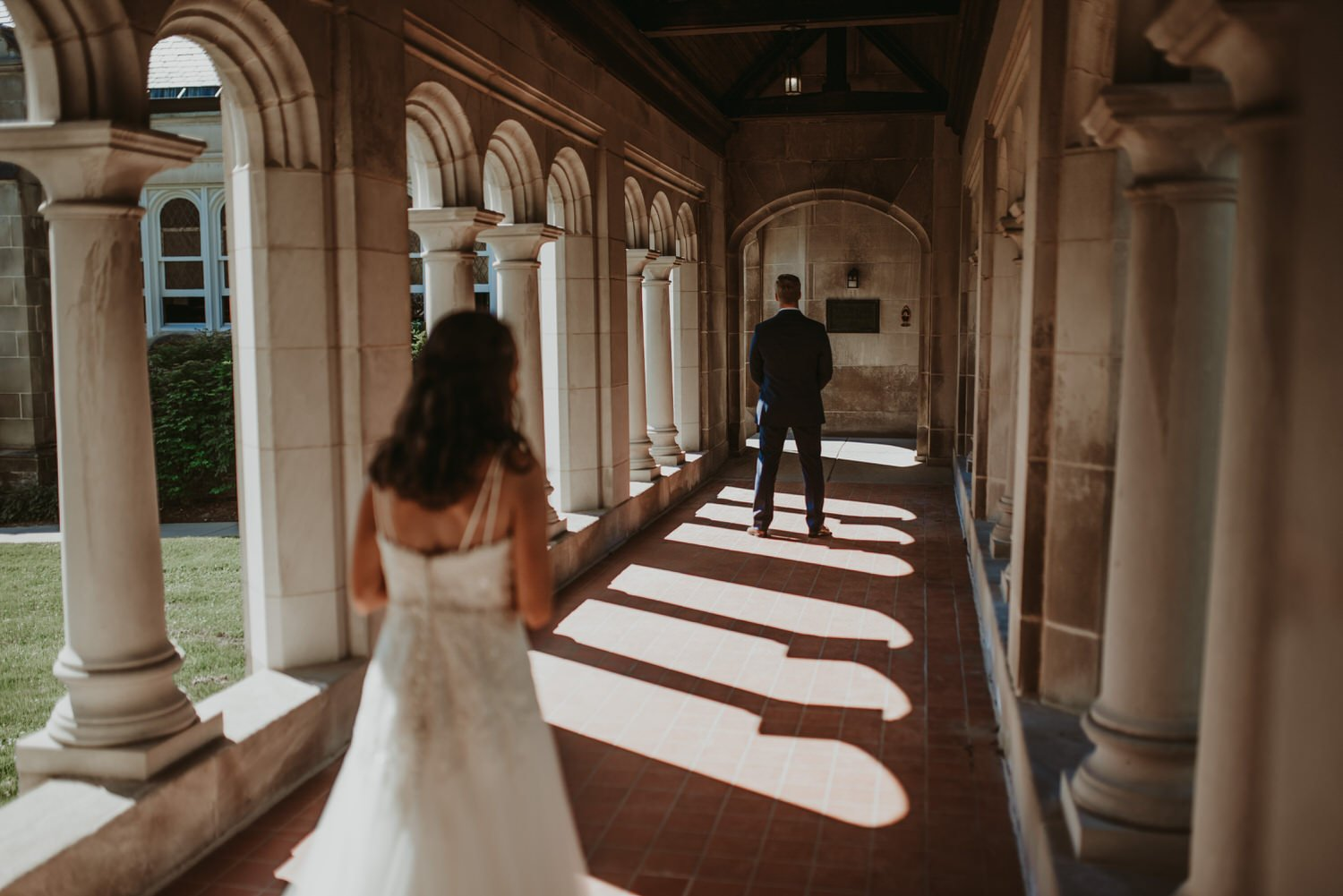 The Adamkovi Chicago Wedding Photography, Creative photography, Dark and moody, Documentary, First look, lily reid holt memorial chapel