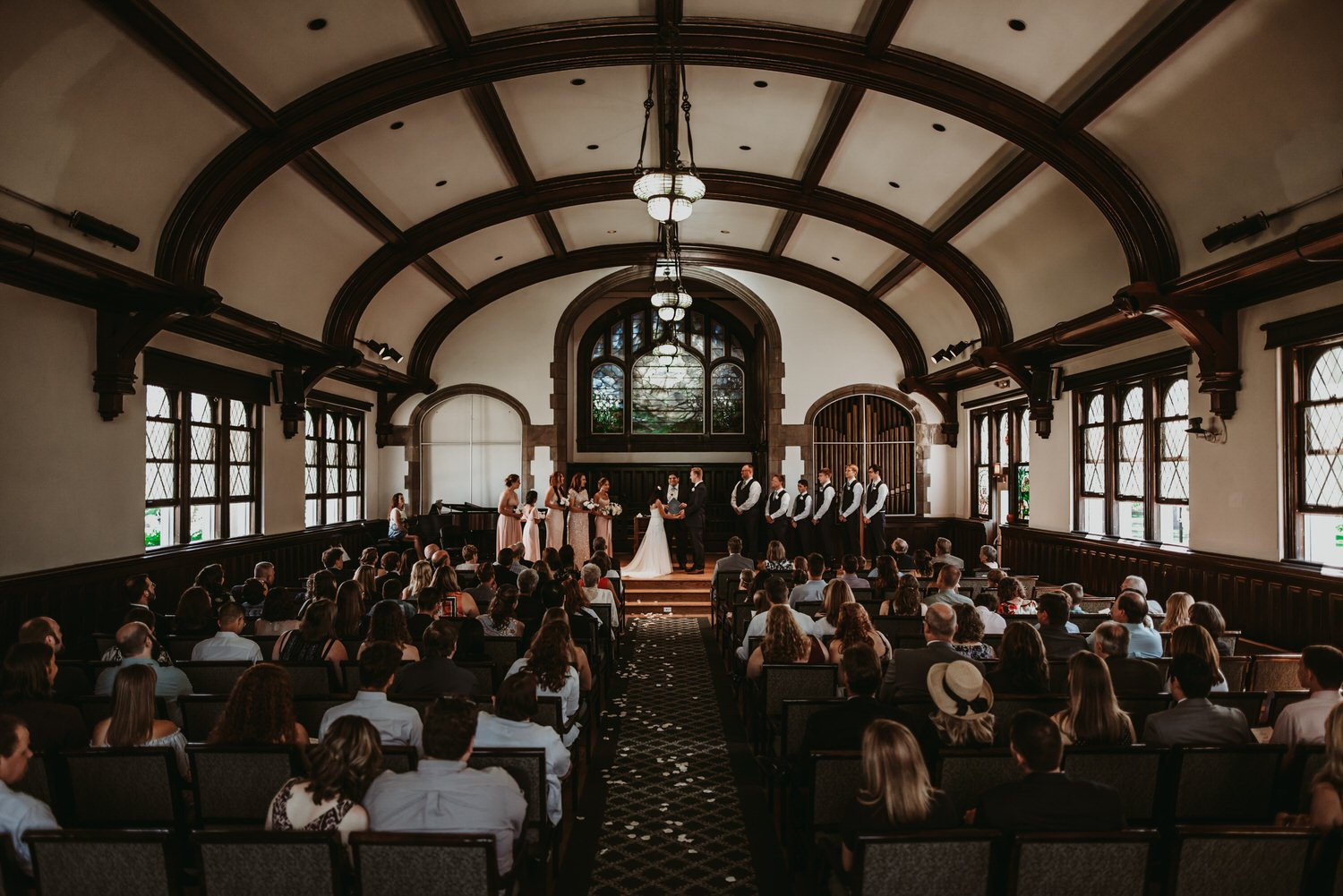 The Adamkovi Chicago Wedding Photography, Creative photography, Dark and moody, Documentary, Lily reid holt memorial chapel wedding