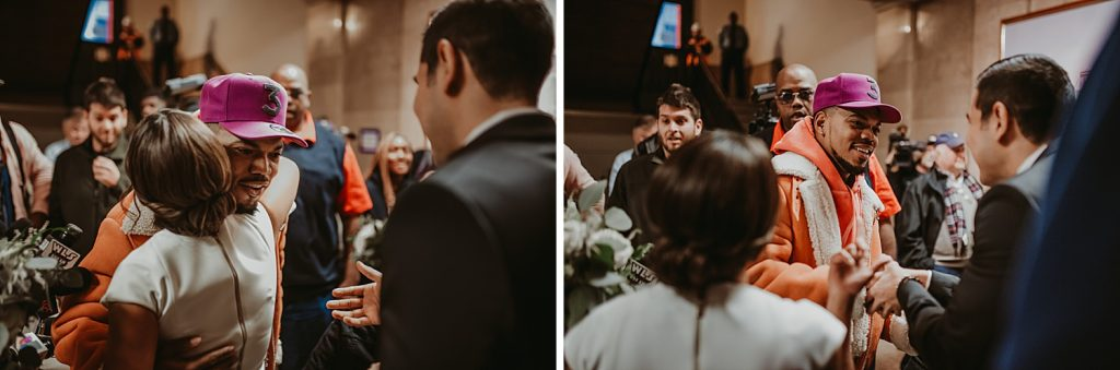 dowtown Chicago elopement wedding photography. The Adamkovi. Chance the rapper