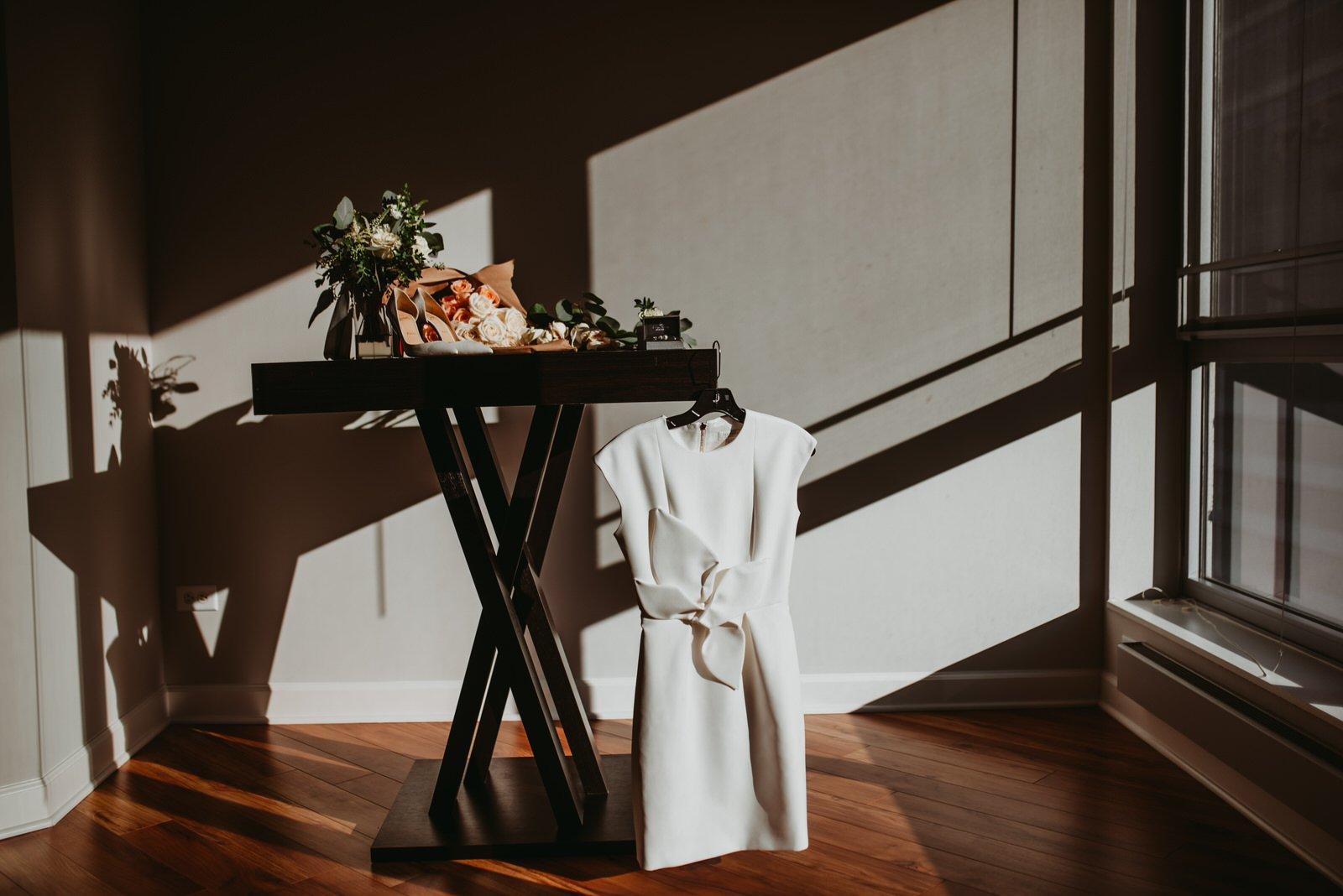 Chicago wedding elopement dress photography the Adamkovi