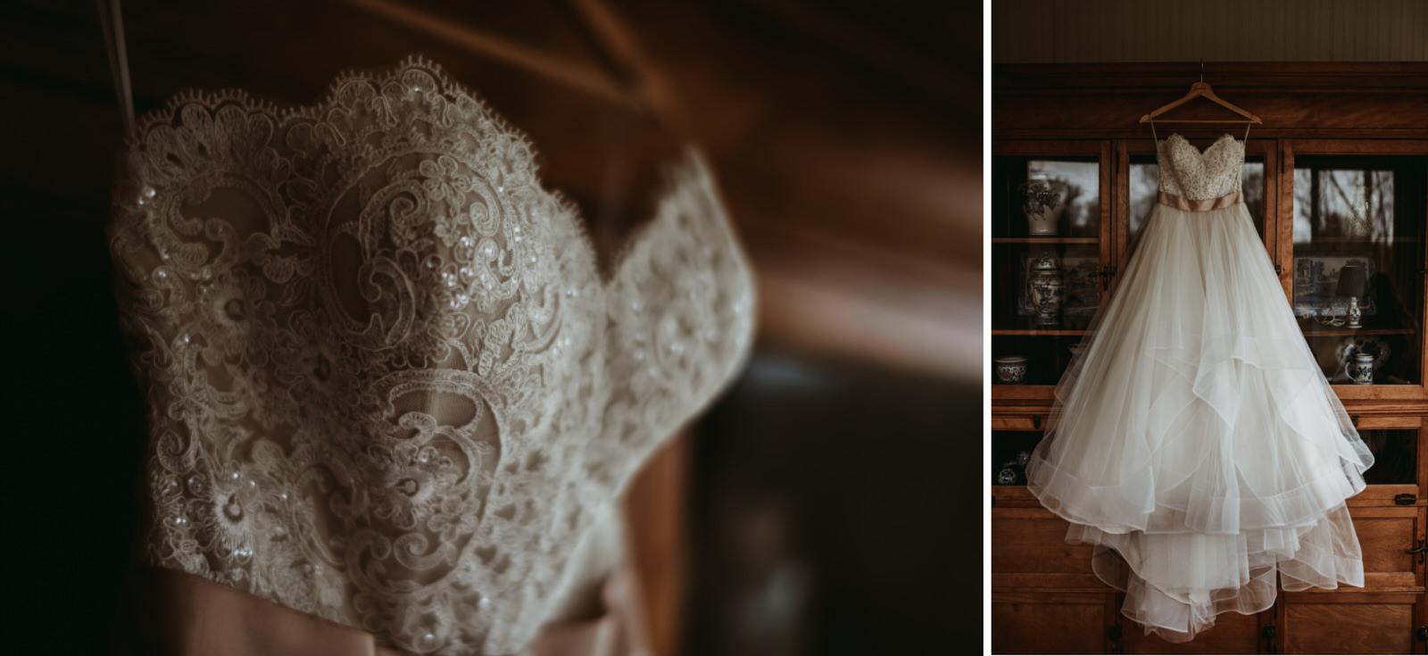BHLDN wedding dress moody photography, Chicago wedding photography - The Adamkovi