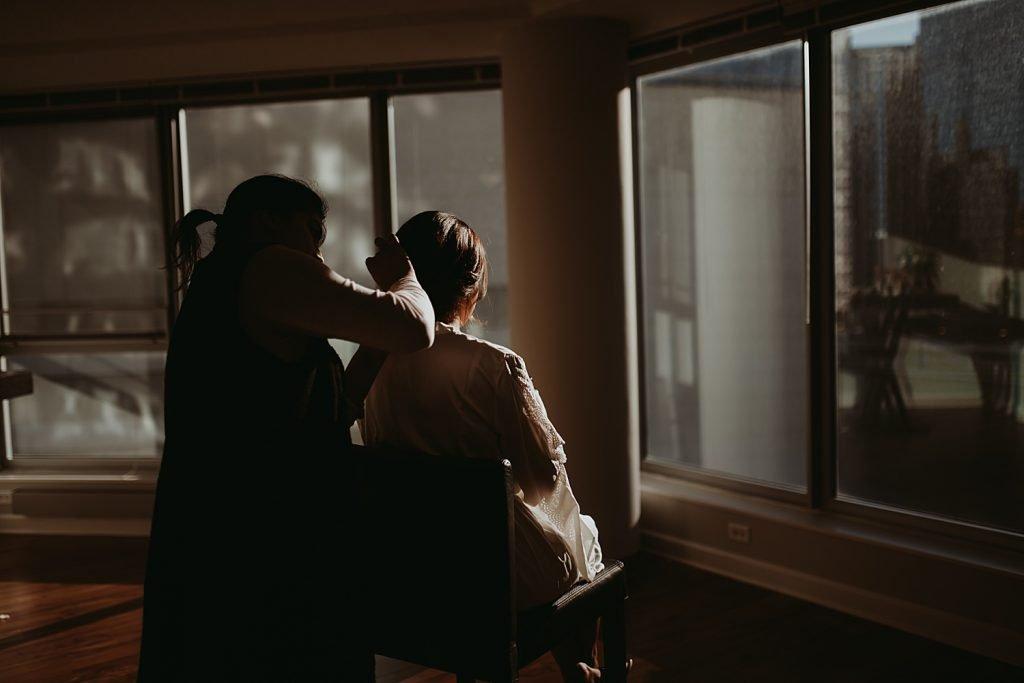dowtown Chicago elopement wedding photography. The Adamkovi.