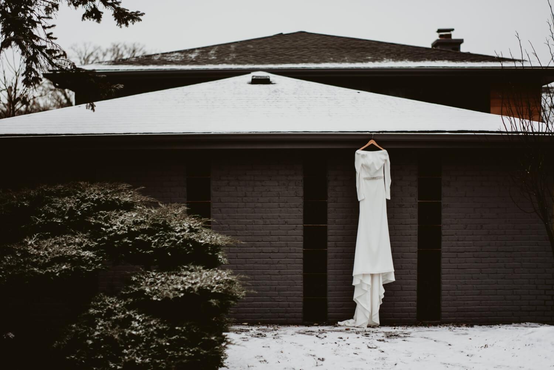Photo of a bridal dress - the Adamkovi - Chicago wedding photography