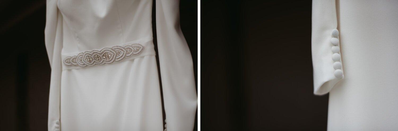 bridal dress details the Adamkovi - Chicago wedding photography