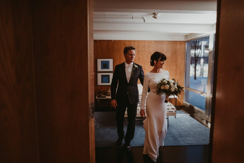 Van Der Mies - Bride and Groom - Elmhurst art Museum Wedding - The Adamkovi Chicago wedding photographer - Epic creative photo