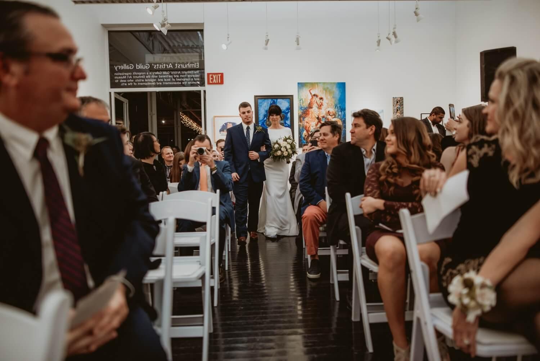Wedding Ceremony - Elmhurst art Museum Wedding - The Adamkovi Chicago wedding photographer