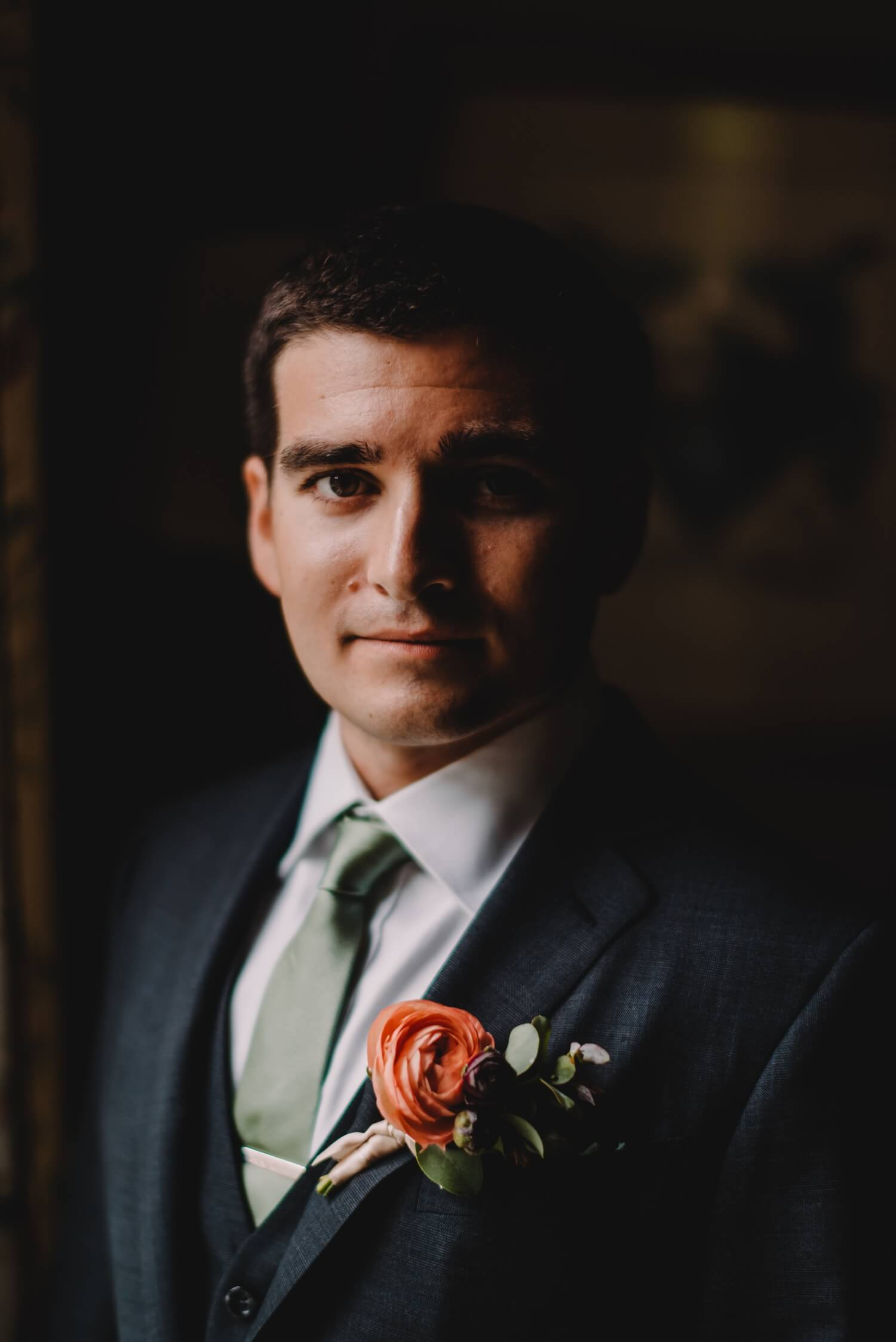 Groom Portrait, The Women's Club of Evanston Wedding Photographer - The Adamkovi, Chicago wedding Photographer