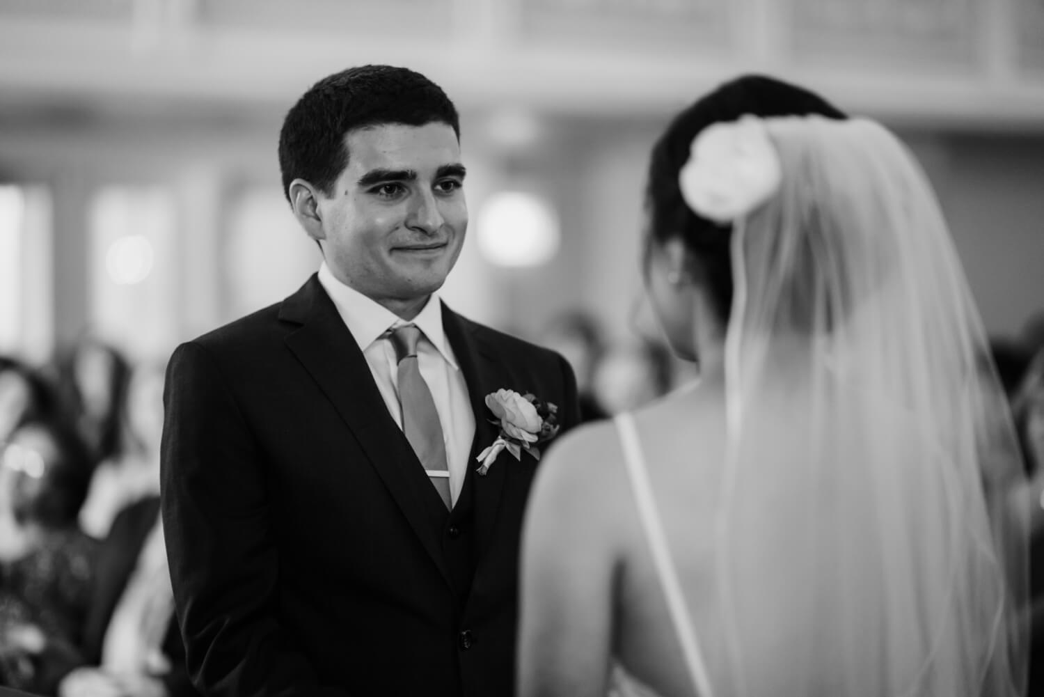 groom smiling, The Women's Club of Evanston Wedding Photographer - The Adamkovi, Chicago wedding Photographer