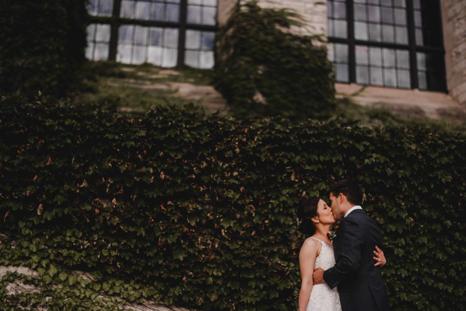 bride and groom portraits, northwestern university, The Women's Club of Evanston Wedding Photographer - The Adamkovi, Chicago wedding Photographer