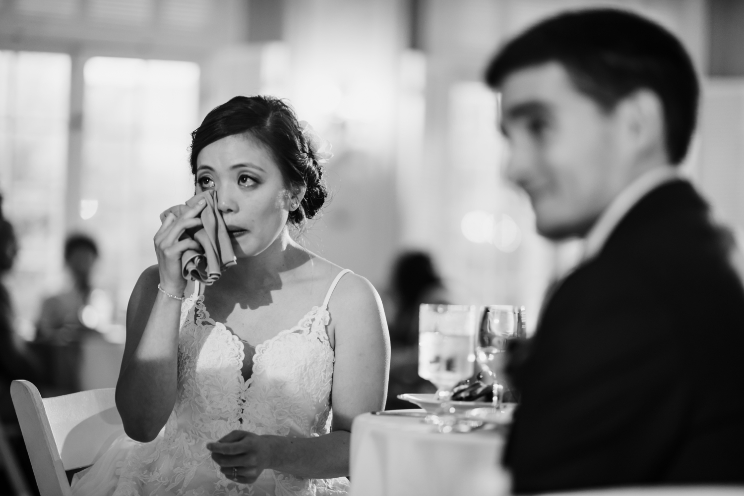 bride crying during speech,