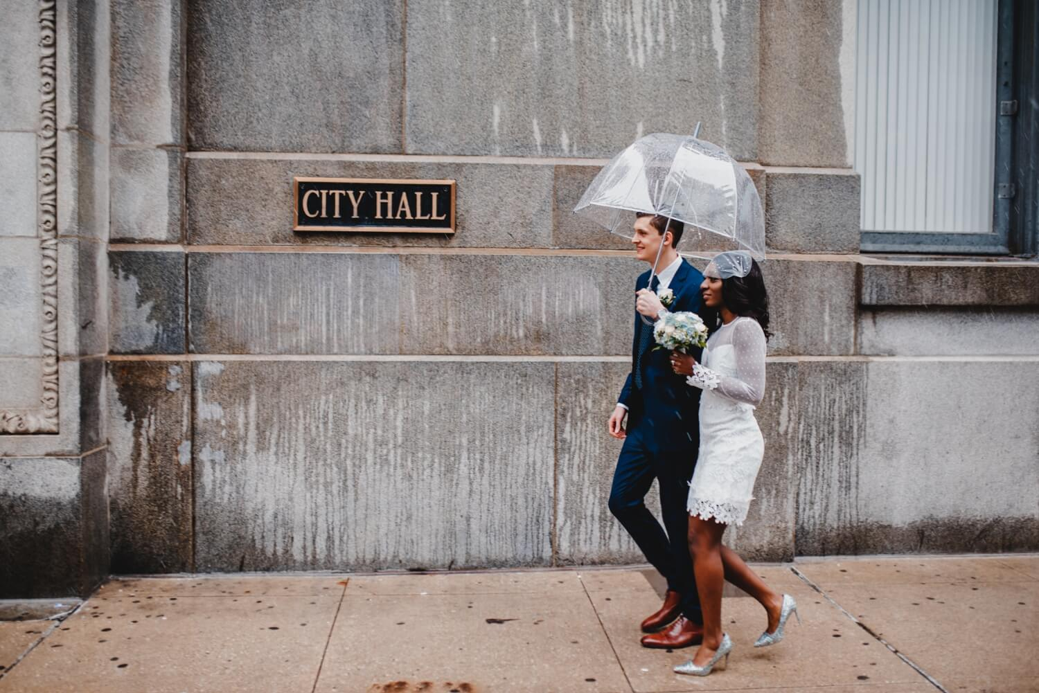 Chicago City Hall Wedding Photographer - The Adamkovi, city hall sign, mixed couple