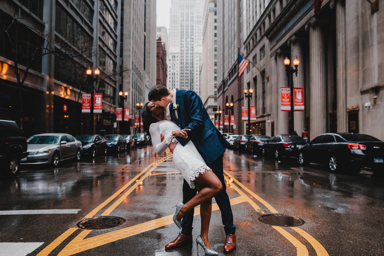 Chicago City elopement street photo - the adamkovi