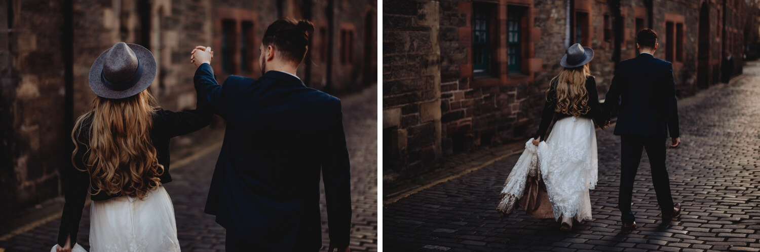 Bride and groom Wedding Photographer in Edinburgh - The Adamkovi