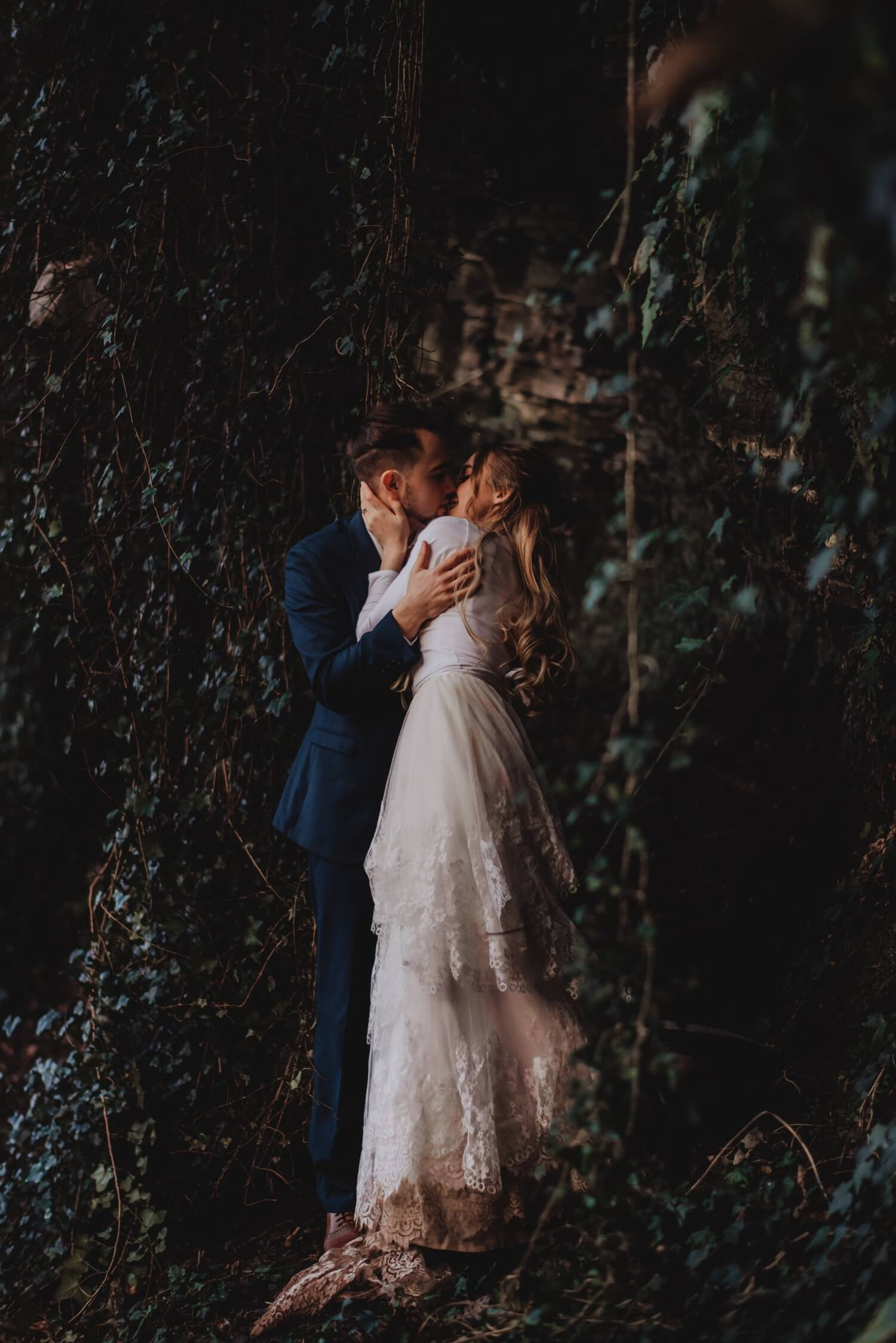 Dean village, forest, elopement, Bride and groom Wedding Photographer in Edinburgh - The Adamkovi