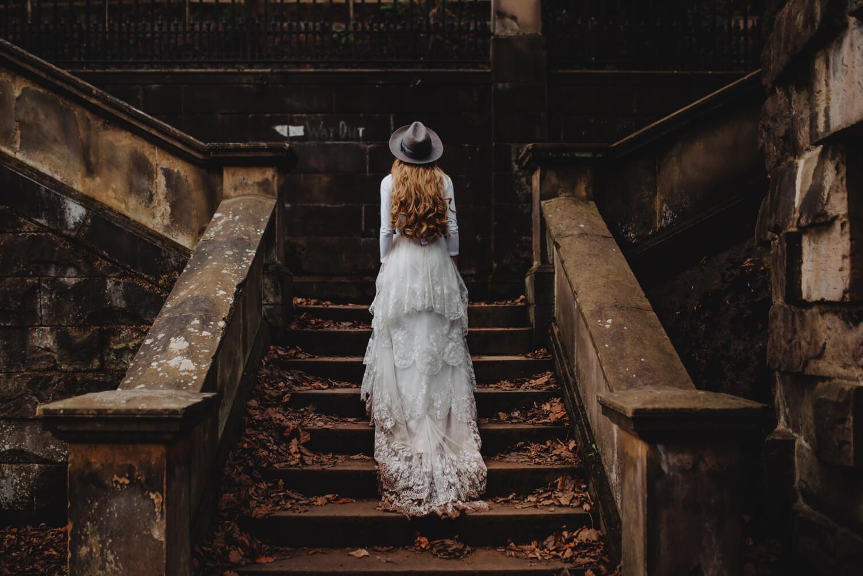 dean village, elopement, Bride and groom unique Wedding Photographer in Edinburgh - The Adamkovi