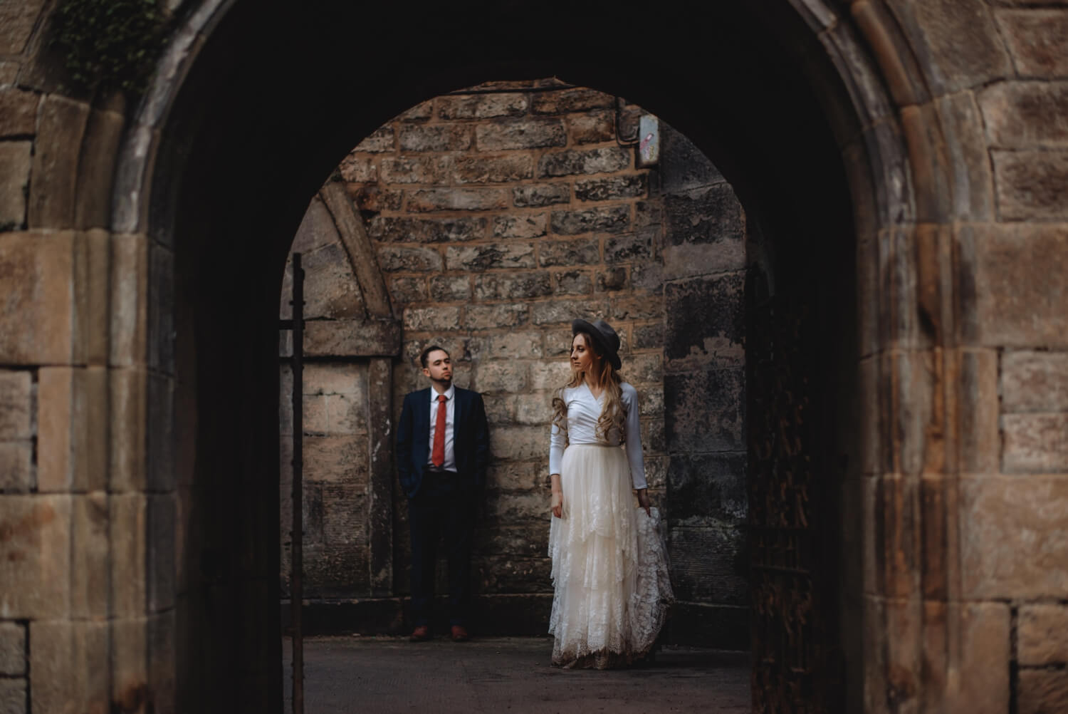 elopement, Bride and groom unique Wedding Photographer in Edinburgh - The Adamkovi