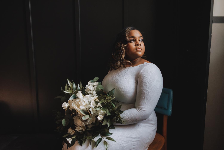 Chicago Elopement photographer - The Adamkovi, bride portrait