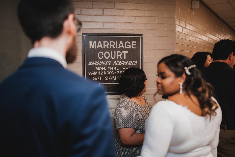 Chicago Elopement photographer - The Adamkovi, marriage court sign