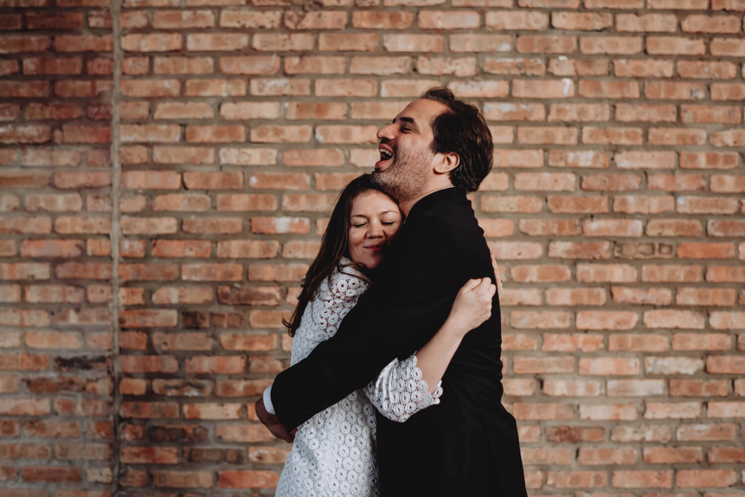Logan Square Chicago Engagement funny photo of the bride and the groom