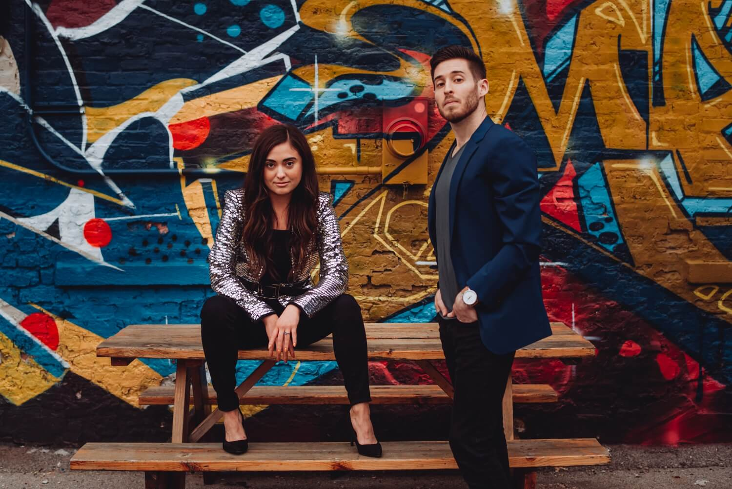 Wicker Park Engagement Photographer - The Adamkovi, epic portrait