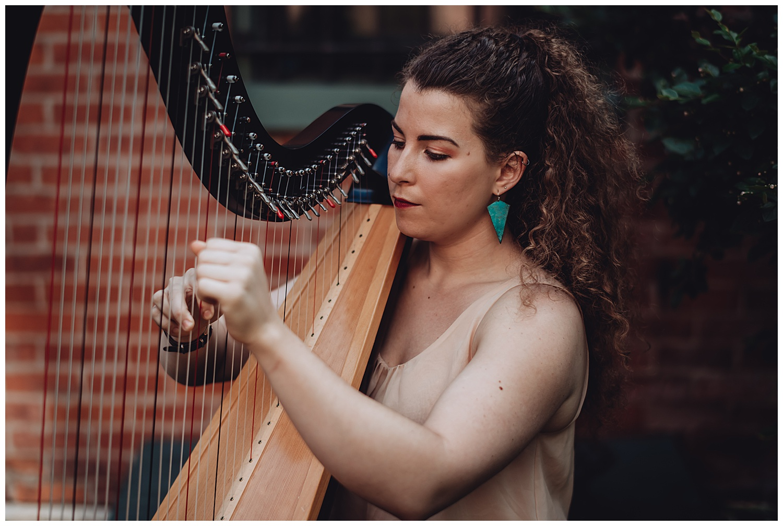 Keith House Chicago Wedding, The Adamkovi, harpist
