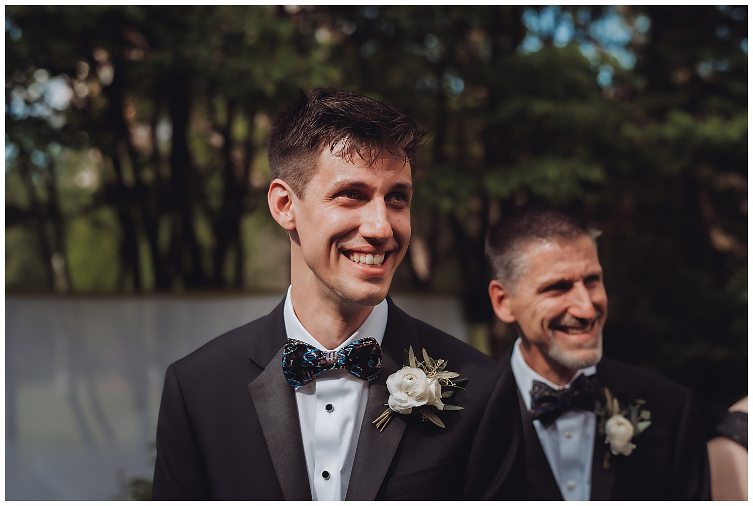 Keith House Chicago Wedding, The Adamkovi, groom crying while seeing bride for the first time