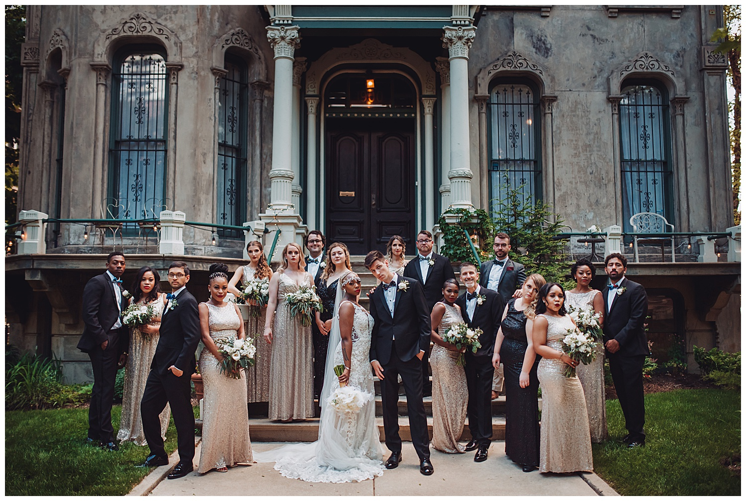 Keith House Chicago Wedding, The Adamkovi, boss, unique bridal party group photo, vanity fair,