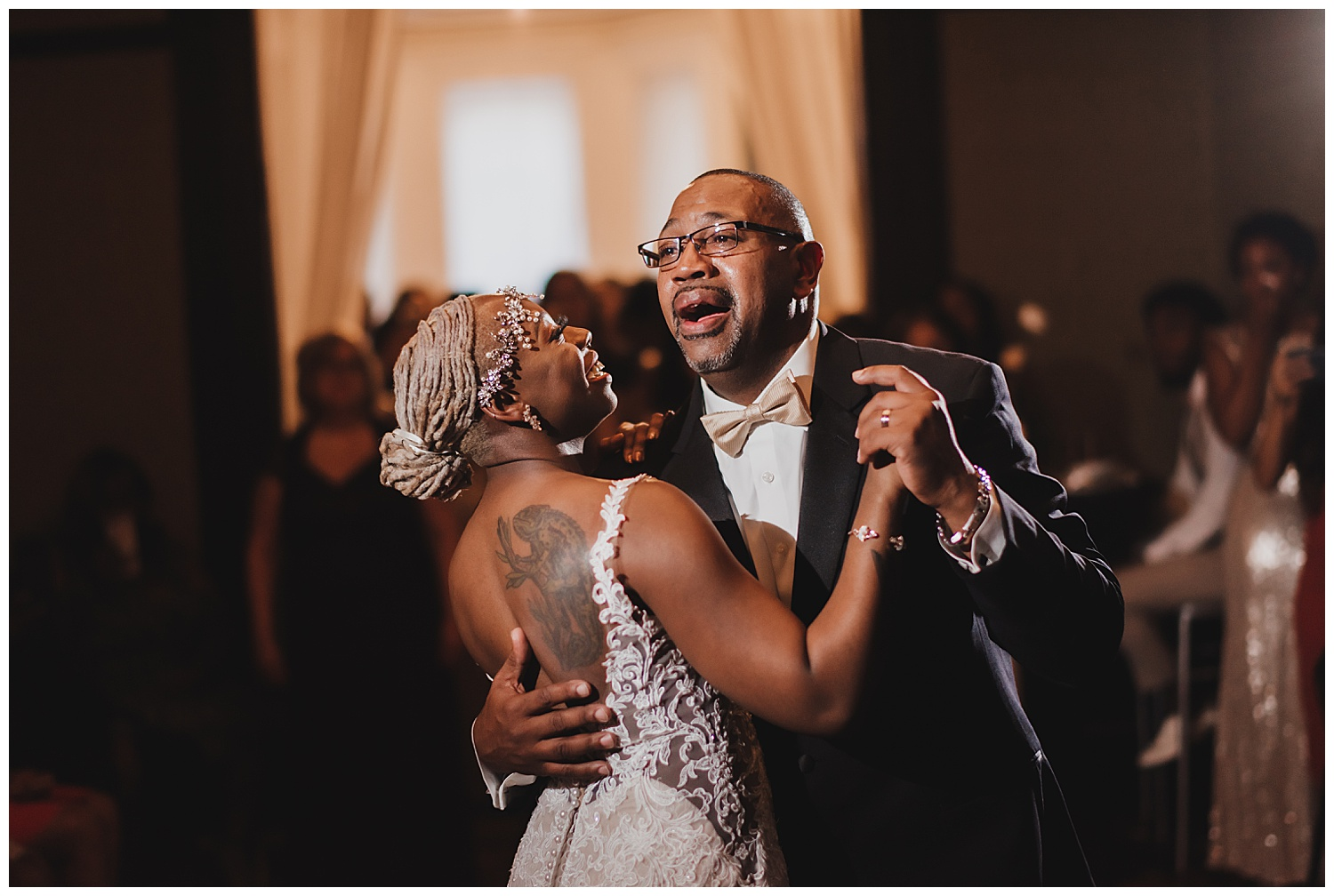 Keith House Chicago Wedding, The Adamkovi, father daughter first dance crying