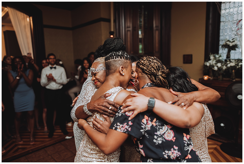 Keith House Chicago Wedding, The Adamkovi, bride group hug