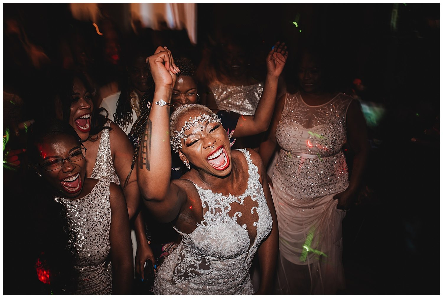 Keith House Chicago Wedding, The Adamkovi, bride dancing, wild party