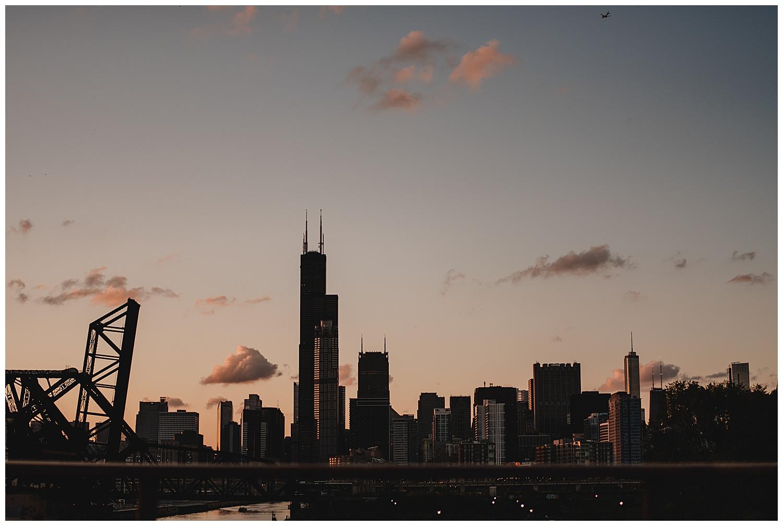 Keith House Chicago Wedding, The Adamkovi, Chicago skyline