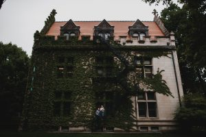 University of Chicago, Hyde Park Engagement Photography Session, ivy wall, The Adamkovi
