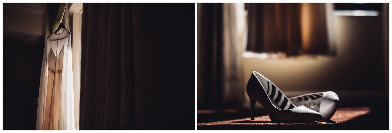 Palmer house Chicago Wedding Photographer - The Adamkovi, bridal shoes and dress