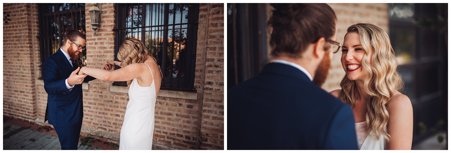 Lacuna Lofts Chicago Wedding - The Adamkovi, first look