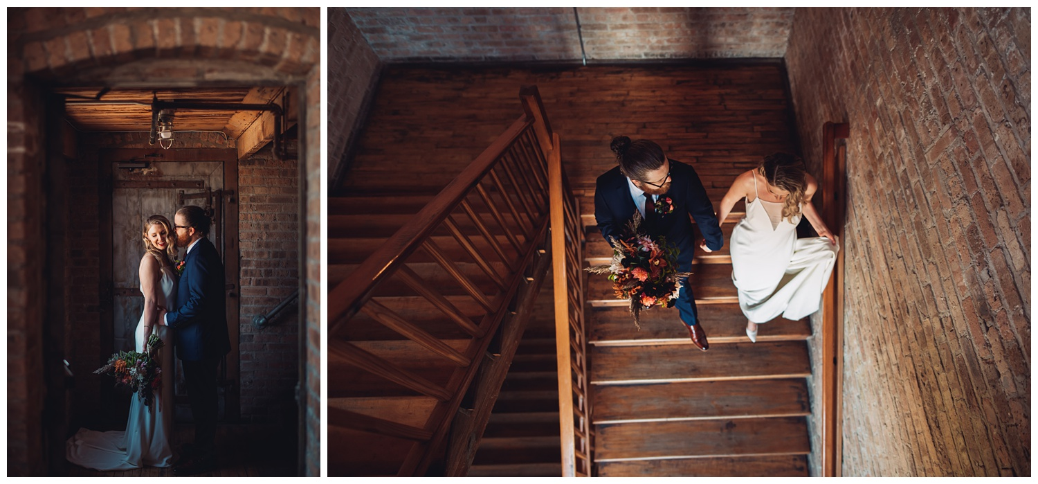 Lacuna Lofts Chicago Wedding Photography - The Adamkovi, bride and groom portraits