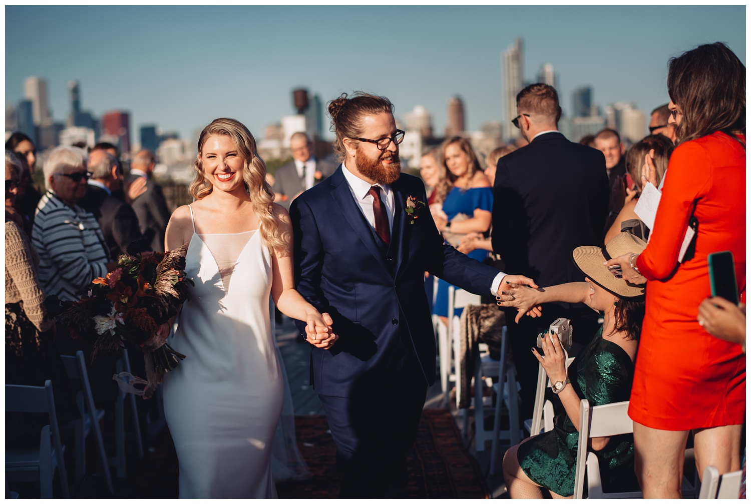 Lacuna Lofts Chicago Wedding Photography - The Adamkovi, rooftop ceremony