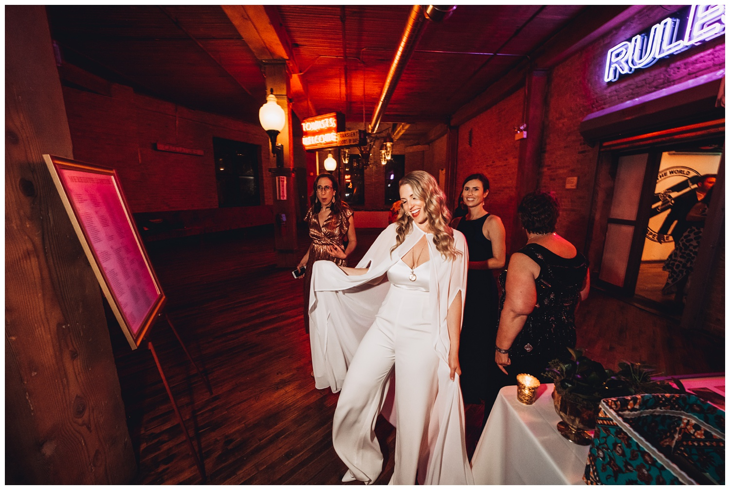 Lacuna Lofts Chicago Wedding Photography - The Adamkovi, bride with a cape photos
