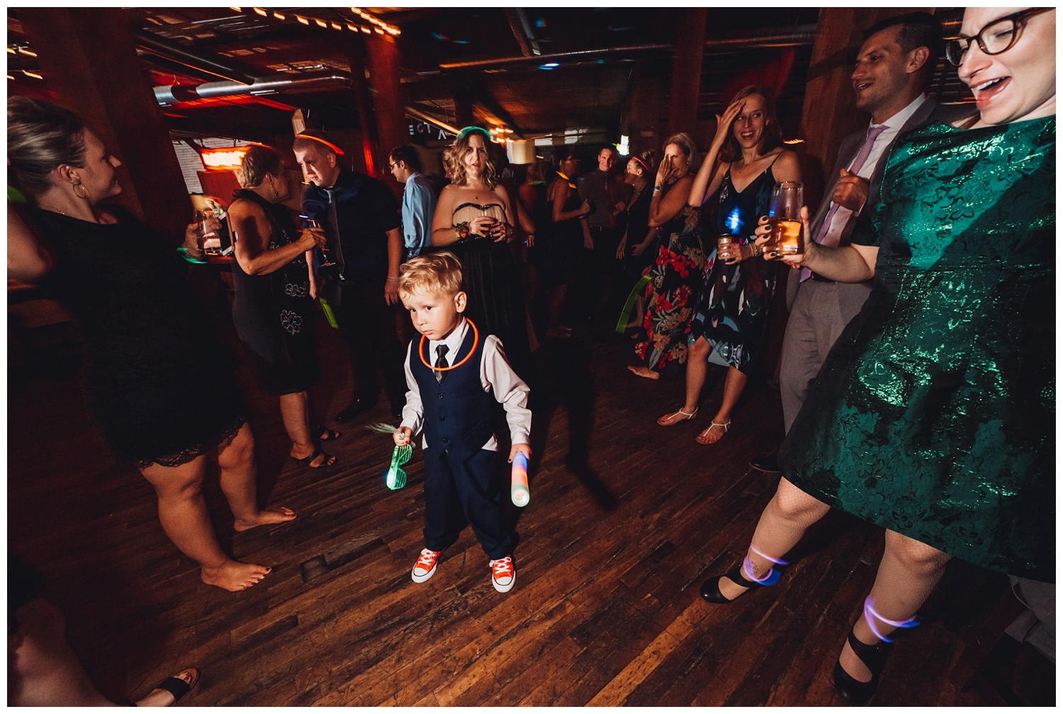 Lacuna Lofts Chicago Wedding Photography - The Adamkovi, Epic Dance Party a kid
