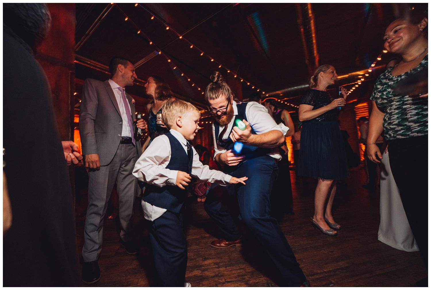 Lacuna Lofts Chicago Wedding Photography - The Adamkovi, Epic Dance Part, a ring bearer and groom