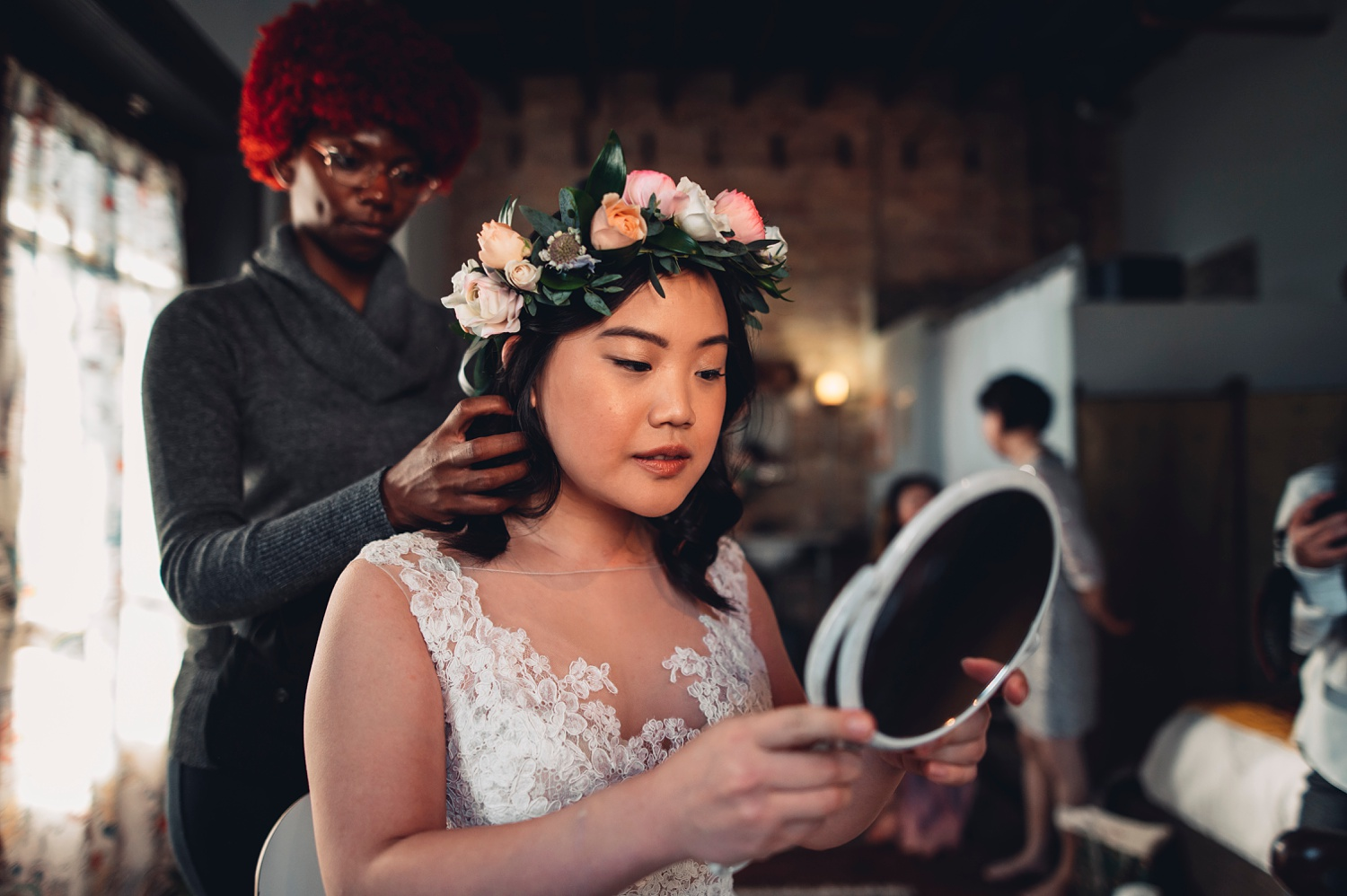 Firehouse Chicago Wedding - getting ready