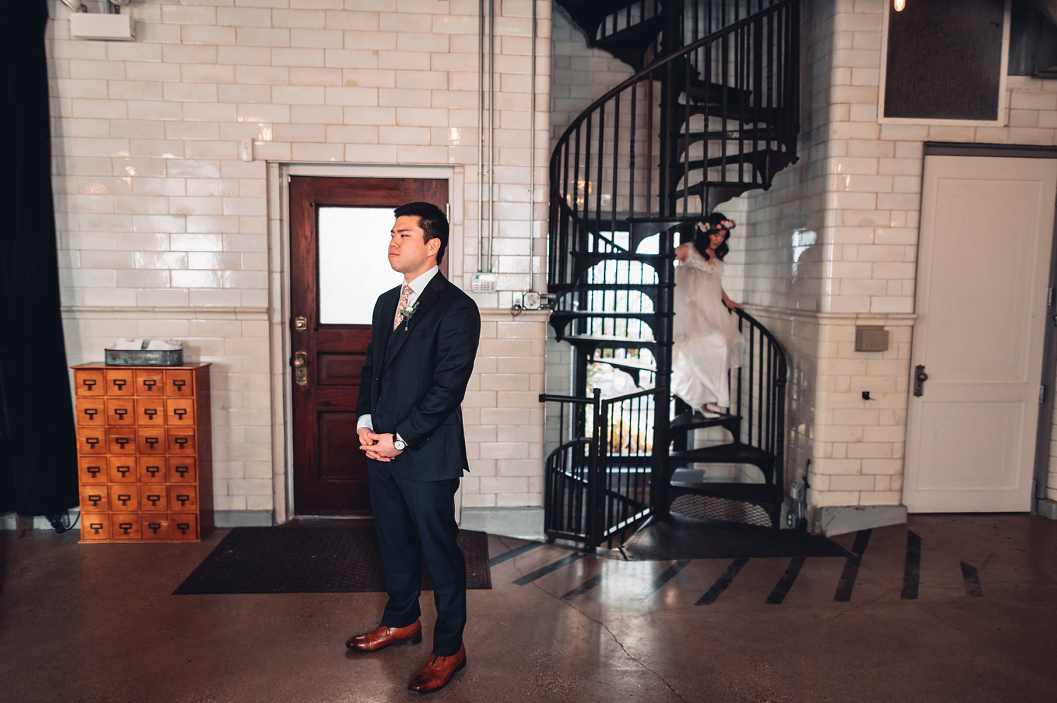 Firehouse Chicago Wedding - first look