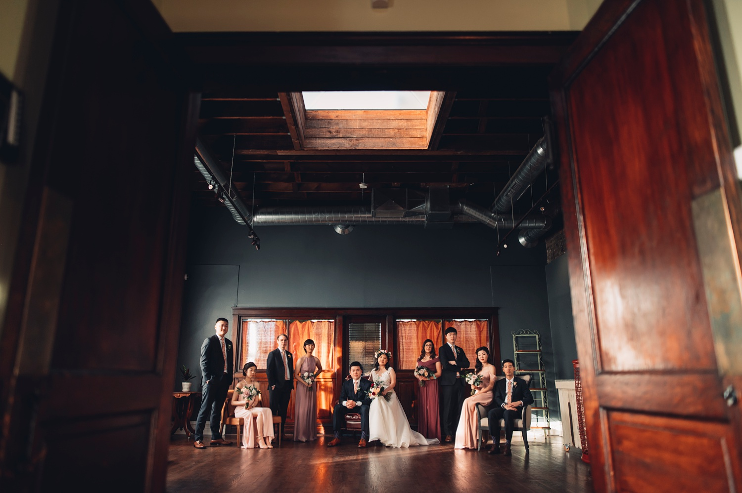 Firehouse Chicago Wedding - most creative bridal party photos