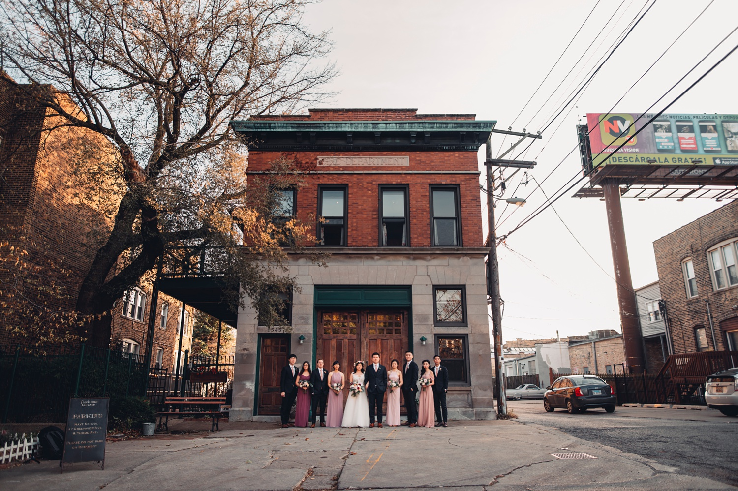 Firehouse Chicago Wedding - portraits, wedding party