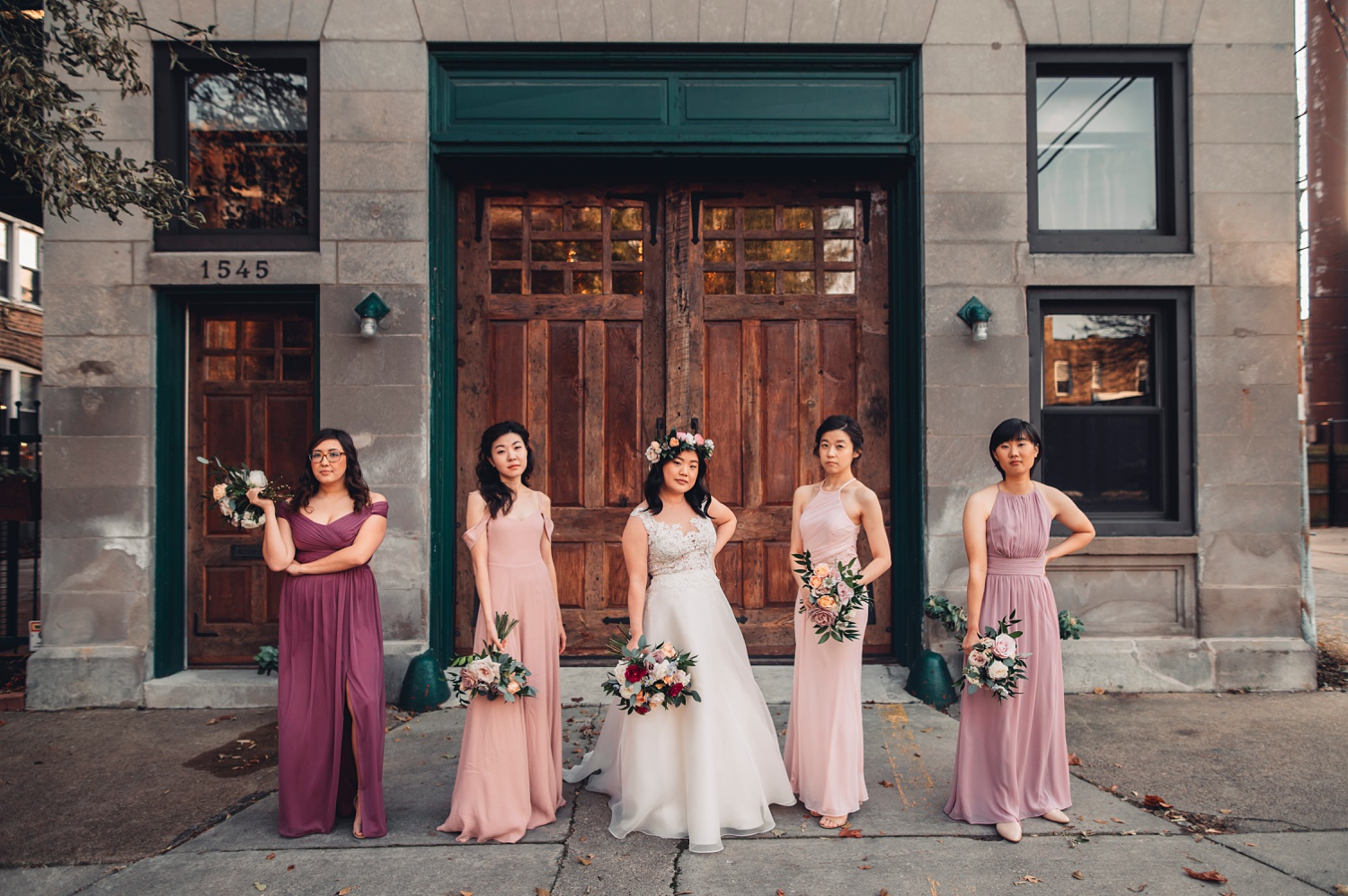 Firehouse Chicago Wedding - portraits bridal party